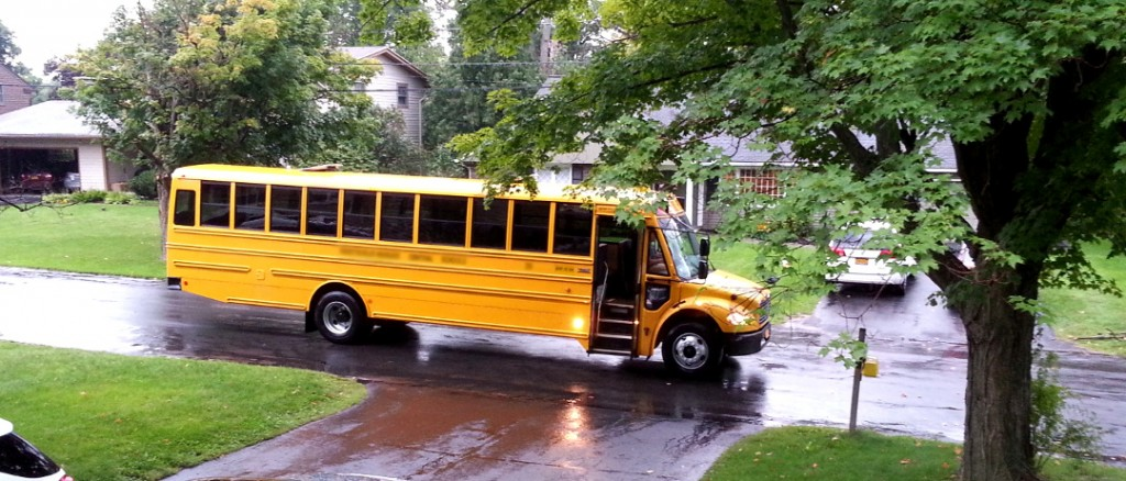 First bus of the year