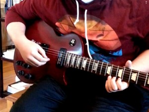 My student Andrew and his new Gibson